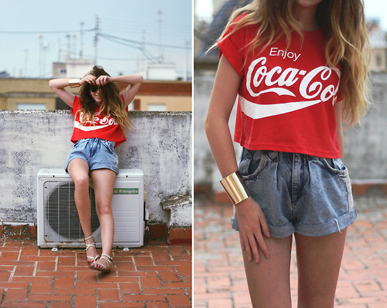 Francesca S - Primark Top, Shorts, H&M Bracelet, Mango Sandals - Enjoy Coca-Cola
