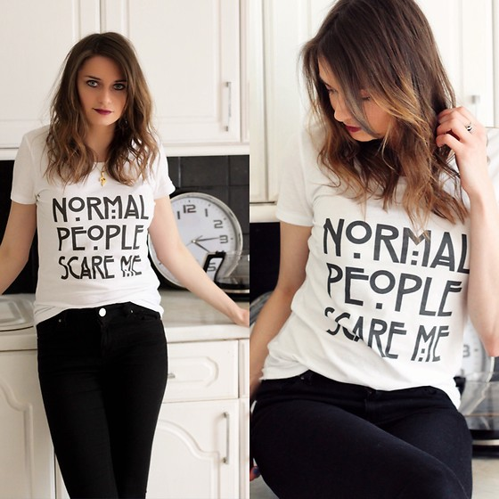 Audrey - Tv Show Time Shirt, Asos Skinny - Normal people scare me