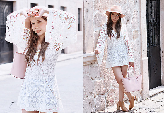 She is Magique Oh my Dior - Rag & Bone Pink Hat, Kate Spade Bag, Lady Marshmallow Lace Dress - Love yourself