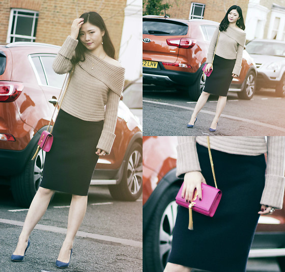 Katie - Club Monaco Knit Top, Reiss Knit Skirt - Ins: Katie_AvecChic