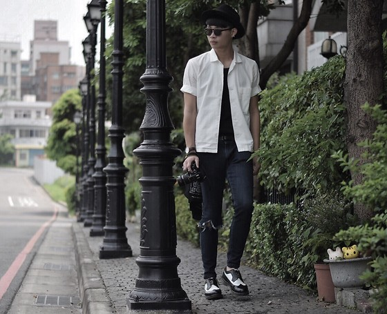 Anan Chien - Asos Hat, Lemaire Shirt, Uniqlo Jeans, Dr.Martens Shoes - Ootd