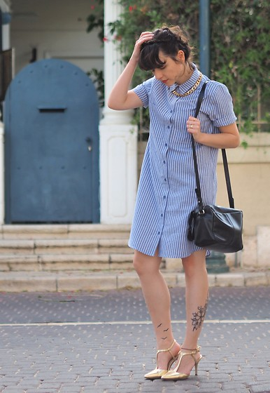 Fashionella ♥ - Shirt Dress, Bag - Shirt Dress
