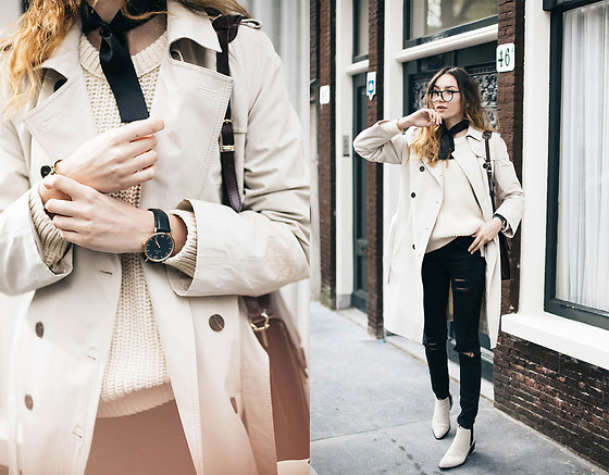 Bea G - Trench, Knit, Jeans, Watch, Shoes - The Story Of The Trench Coat