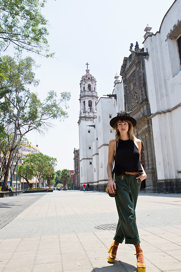 Valentina Rios -  - Flower hats, big churches and sandals with socks