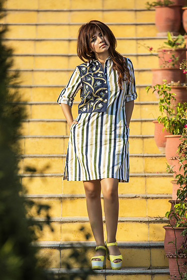 Shruti Singla - Shruti S Shirt Dress, Charles N Keith Platforms - Summer Dress