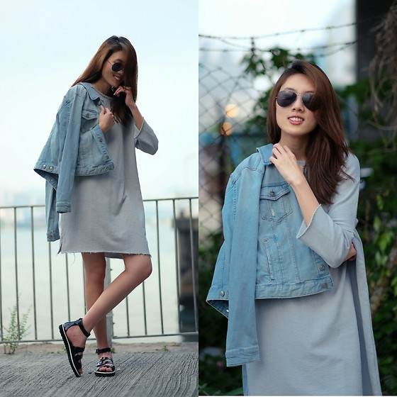 Kara C - H&M Denim Jacket, Charles And Keith Strappy Sandals - A Dull Scene