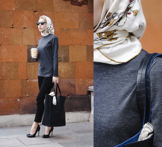 Margo Bryksina - Follow My Eyes Turtleneck Top, Front Row Shop Shopper, Asos Heels - F i R E
