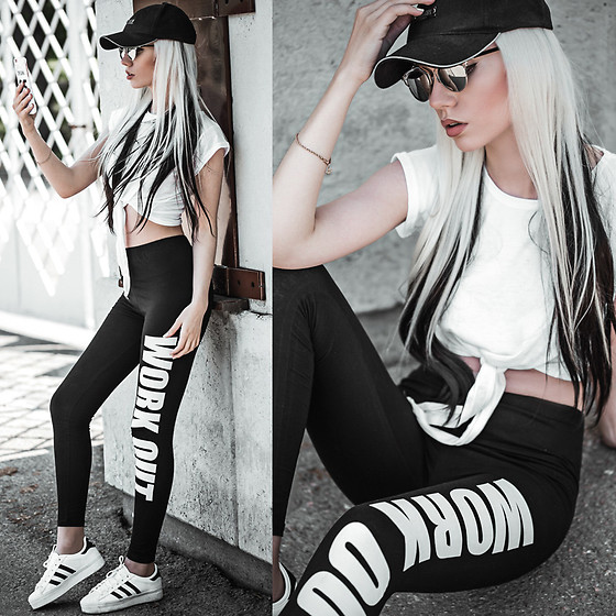 Oksana Orehhova - Name Cases Case, Adidas Shoes, Moschino Cap, Born Pretty Store Leggings, Born Pretty Store Hair Clip In - SUPER PERSONAL CASE DAY