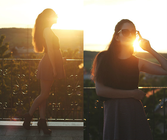 Francesca S - Bershka Skirt, Dior Sunglasses - Walking on sunshine