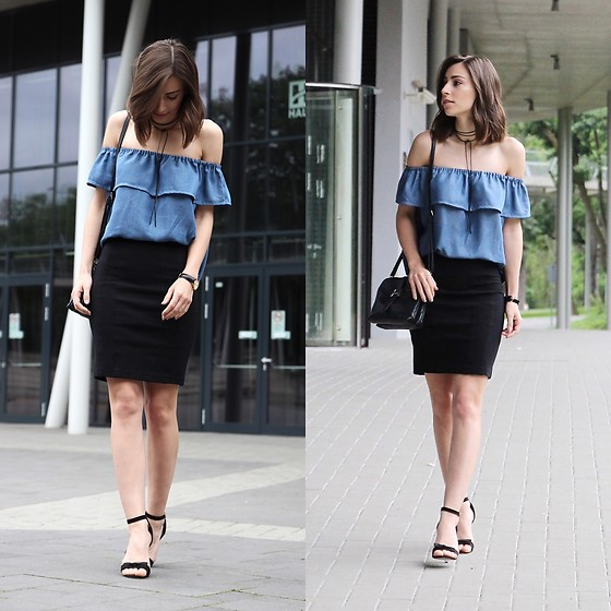 Betty K -  - DENIM OFF THE SHOULDER