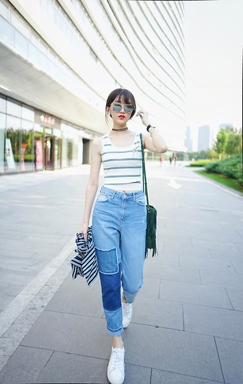 Lilian.Chen - Topshop, Maje, Common Projects, Gentle Monster - Blue&White
