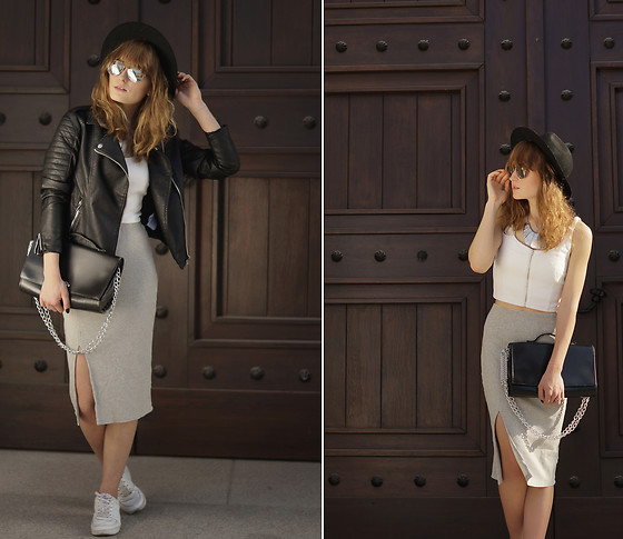 PASHIOON - Deichmann Sneakers, Cubus Skirt, Cubus Jacket, Mohito Hat, Cubus Top - Sporty but not.