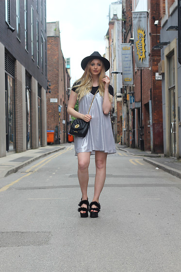Laura Rogan - Boohoo Hat, Urban Outfitters Dress, Moschino Bag - Silver Linings