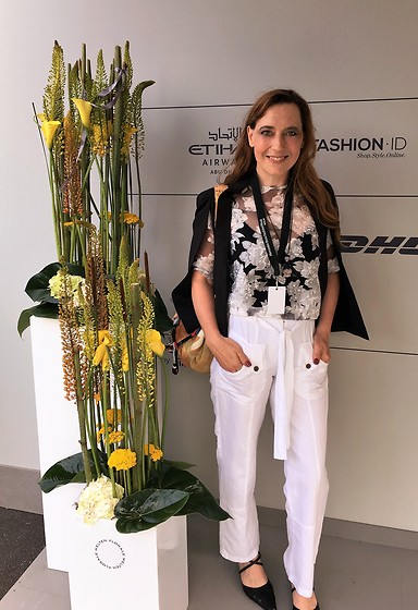 Nessy Wagner -  - Visiting  Mercedes Benz Fashion Week Berlin