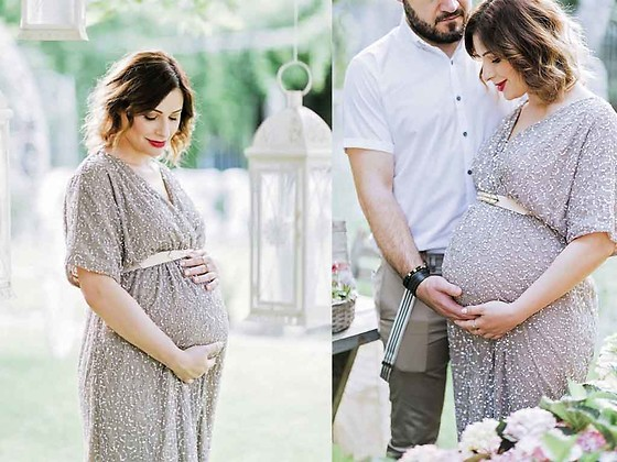 Elena Sandor - Asos Dress - Garden maternity shoot