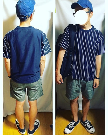 Keysyu Takagi - Newhattan Cap, Globalwork T Shirt, Uniqloandlemaire Shorts, Converse Shoes, Globalwork Backpack - Tomorrow outfit
