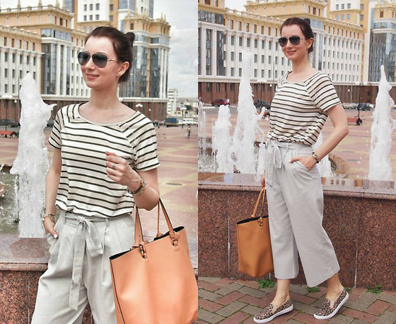 Arina V. - Asos Culottes, Zara Bag, Vero Moda Top - Vacation in the city