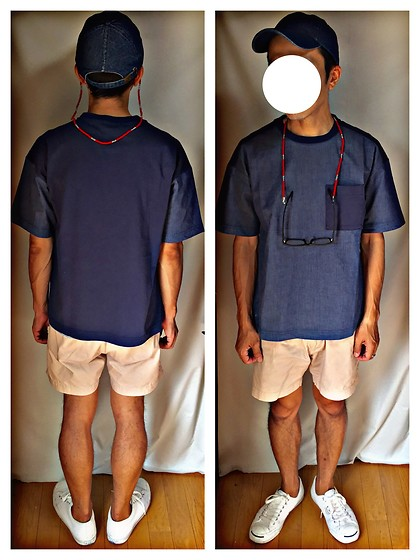Keysyu Takagi - Newhattan Cap, Globalwork T Shirt, Hare Shorts, Converse Shoes - Tomorrow outfit