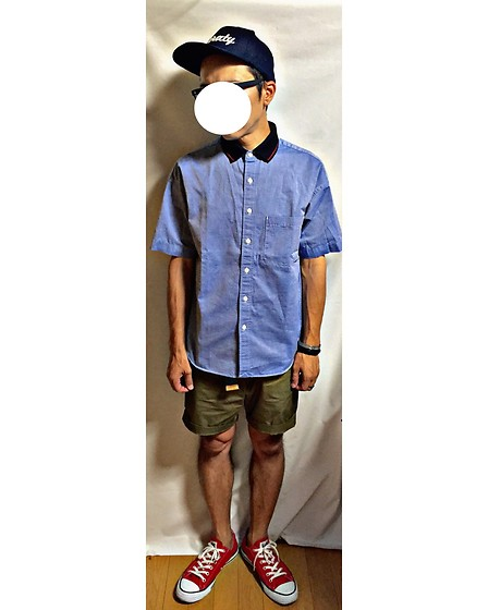 Keysyu Takagi - Globalwork Cap, Globalwork Shirt, H&M Shorts, Converse Shoes - Tomorrow outfit