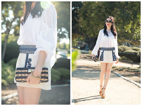 Lisa Valerie Morgan - J. Crew Clutch, Ralph Lauren Blouse, Ralph Lauren Shorts, Steve Madden Sandals - Beverly Hills Boho