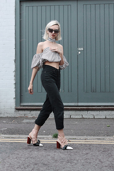 Magdalena M - Zaful Top, Shoes - Zaful top and Versace trousers
