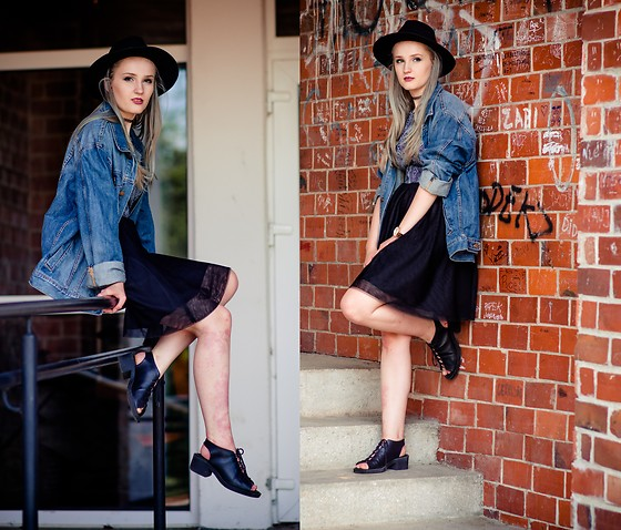 Agnieszka Warcaba - H&M Hat, Second Hand Jacket, House Skirt, H&M Sandals, H&M Top - Bad girl