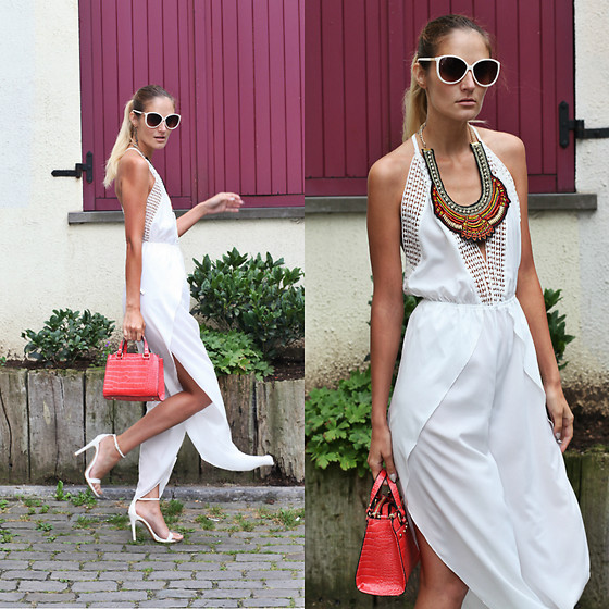 Ruxandra Ioana - Zaful Jumpsuit, Zaful Necklace - White love