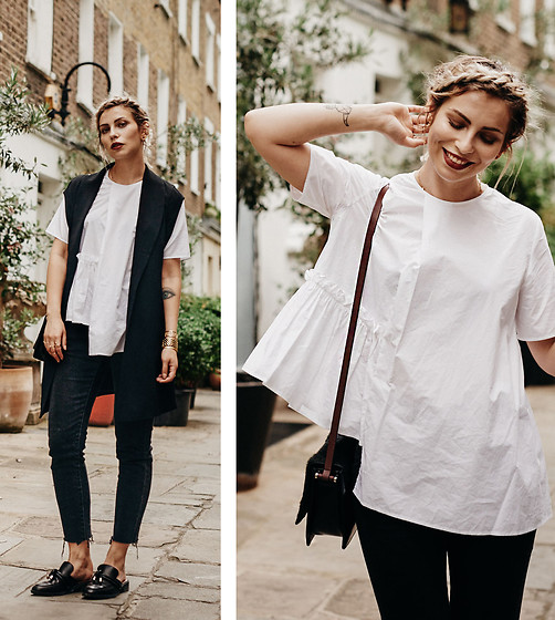 Masha Sedgwick - Laurel Vest, By Malene Birger Bag, Cos Top - The Big White Shirt