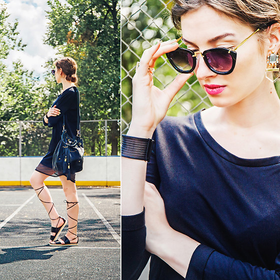 Natasha Karpova - Next Gladiators, Tezenis Dress, No Brand Sunglasses, Sela Bag, H&M Earrings, No Brand Bracelet - SPORTY SUMMER VOL.II
