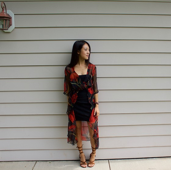 Keri H - Boohoo Blouse, Zaful Sandals - Fall Flowers