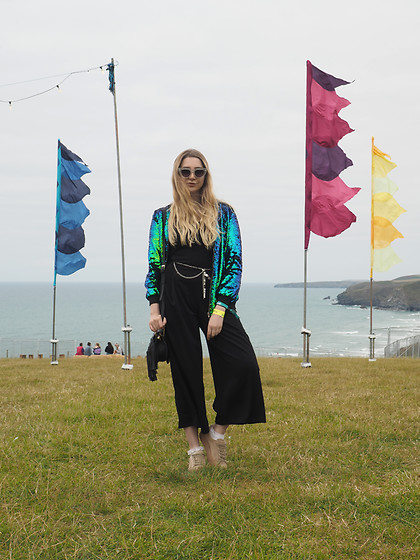 Laura Rogan - Missguided Jacket, Be Jealous Jumpsuit, Public Desire Shoes - Mermaidin' with Missguided