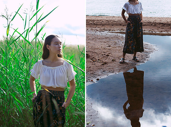 Sara Lehtomaa - Zaful Croptop, Zara Pants, Vagabond Sandals - Roots