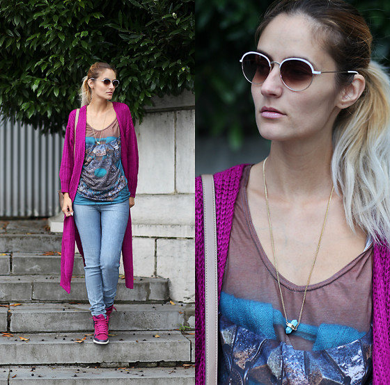 Ruxandra Ioana - Poppy Lovers Cardigan, Angelina Store Necklace - Sugar