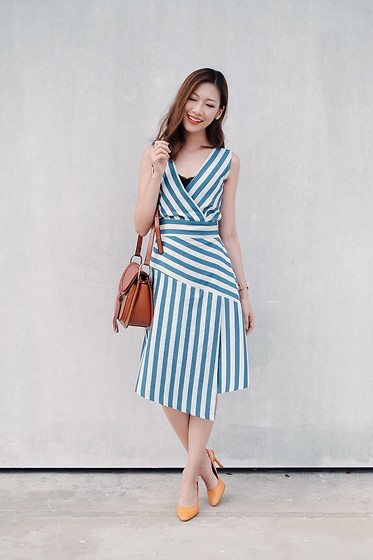 Shanice Koh - Closet London Dress, Charles And Keith Mustard Heels - Summer Stripes