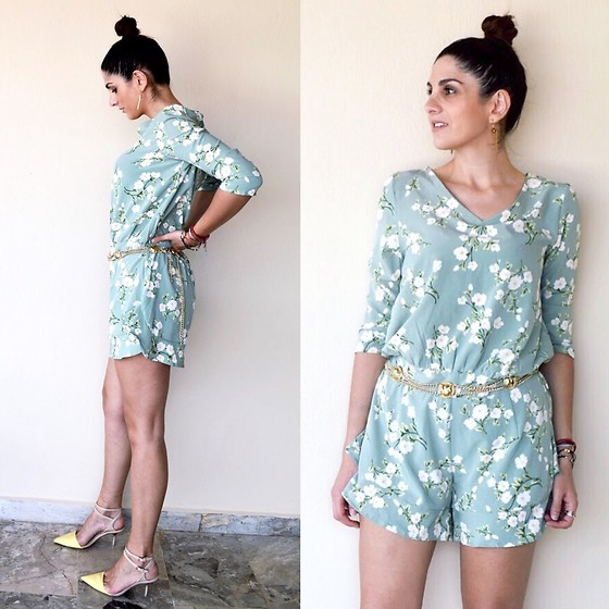 Virginia Kar - Gamiss Blossom Playsuit - Blossom Playsuit | thevirgostyle.blogspot.gr