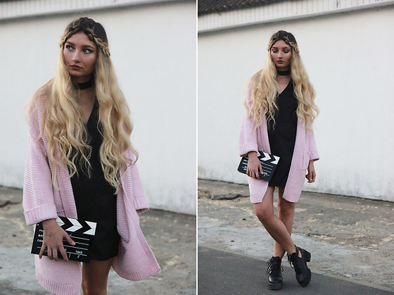 ♡Anita Kurkach♡ - Chicuu Black Dress, Sheinside Coat - PINK!