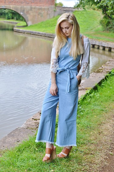 Isobel Thomas - Sammy Dress Culotte Dungarees, Boutique Of Molly Top, New Look Wedges - Transitioning From Summer To Autumn
