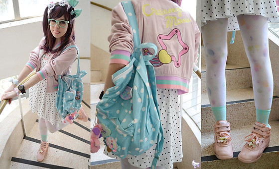 Luly Pastel Cubes - Reebok Peach, Galaxxxy Creamy Mami, Forever 21 Polka Dot - Space age love