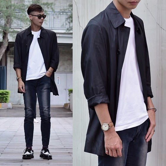 Anan Chien - Glasense Sunglasses, Burberry Jacket, Timex Watch, Cheap Monday Skinny Jeans, Dr.Martens Shoes - October comes