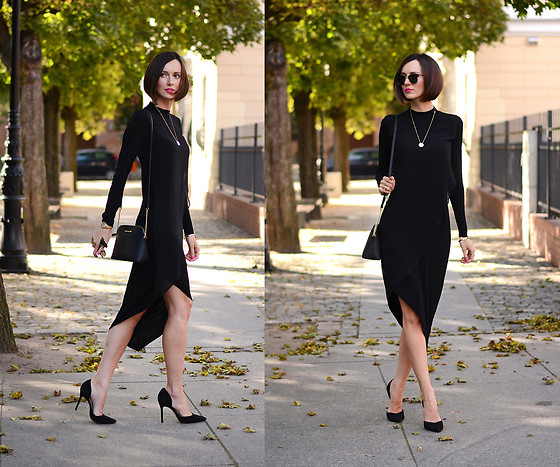 Daisyline . - Medicine Dress, Zara Heels, Michael Kors Bag - Black glam / www.daisyline.pl