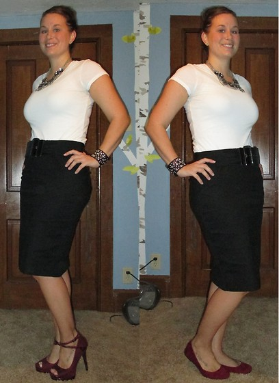 Erin Solberg -  - Pencil Skirt and Tee