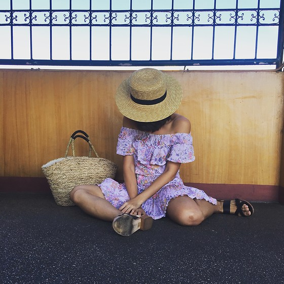 Cassey Cakes - H&M Straw Hat, H&M Straw Bag - Tantrums