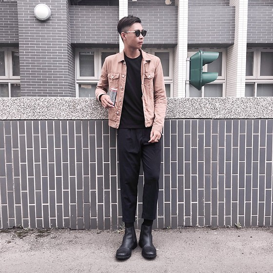 Anan Chien - Forever 21 Jacket, Uniqlo Top, Jack And Joes Chelsea Boots - Drink