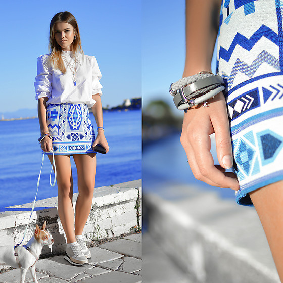 Tamara Bellis - Zaful Bracelet, H&M Skirt, Wholesale 7 Blouse, Zaful Necklace, Zara Sneakers - Life is Simple