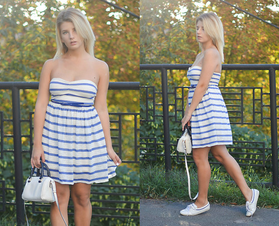 Vlada Kozachyshche - Jennyfer Dress, Mango Bag, Adidas Flats - Sailor