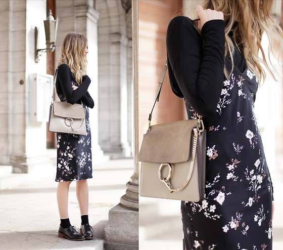 Gabrielle Lacasse - L'academie Slip Dress, Aritzia Turtleneck, Chloe Faye Bag - Turtleneck and silk dress