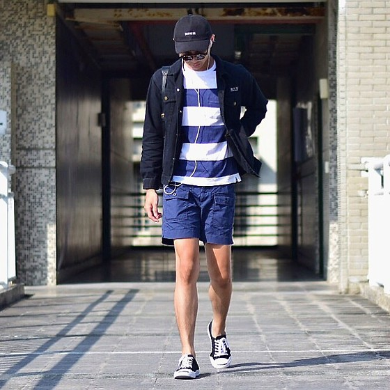 Anan Chien - No Brand Cap, Match Wood Jacket, Uniqlo Top, Uniqlo Pants, Converse Shoes - Blue X Black