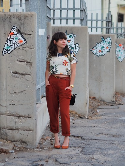 Fashionella ♥ - Zara Pants, Sheinside Floral Top (Part Of A Suit), Asos Heels - Fall mood colors