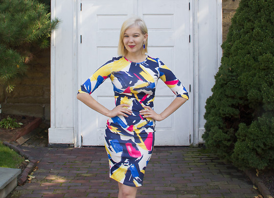 Bree Fesh - Sheinside Brush Stroke Dress - Perfectly Painted