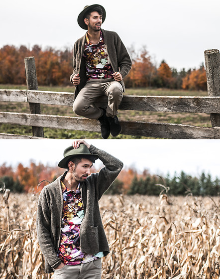 Bobby Raffin - Shelfies Fall Polo, East Dane Felt Hat, Guess Fall Boots - Autumn Vibes